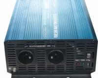 Měnič napětí sínusový 24/230V 1500W + USB