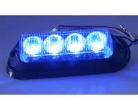 PROFI výstražné LED světlo vnější modré, 12/24V