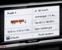 BECKER transit.6 LMU  - navigace pro profesionální náročné řidiče.