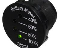 LED indikátor baterie 12-24V