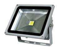 LED Reflektor COB 50W s kabelem, šedý