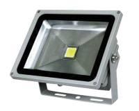 LED Reflektor COB 30W s kabelem, šedý