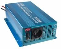 Měnič napětí sinusový 12/230V 1000W s LCD