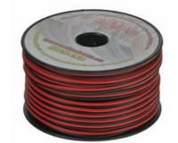 Vodič - dvojlinka 2x1 mm2, černo-červený