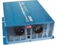 Měnič napětí sinusový 12/230V 2000W s LCD
